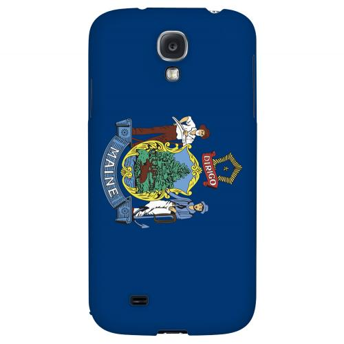 Maine - Geeks Designer Line Flag Series Hard Back Case for Samsung Galaxy S4