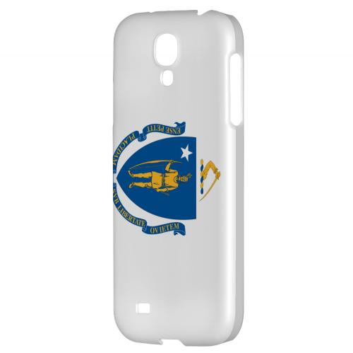 Massachusetts - Geeks Designer Line Flag Series Hard Back Case for Samsung Galaxy S4