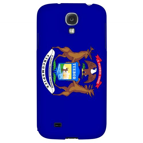 Michigan - Geeks Designer Line Flag Series Hard Back Case for Samsung Galaxy S4