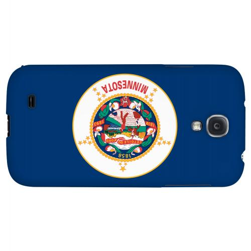 Minnesota - Geeks Designer Line Flag Series Hard Back Case for Samsung Galaxy S4