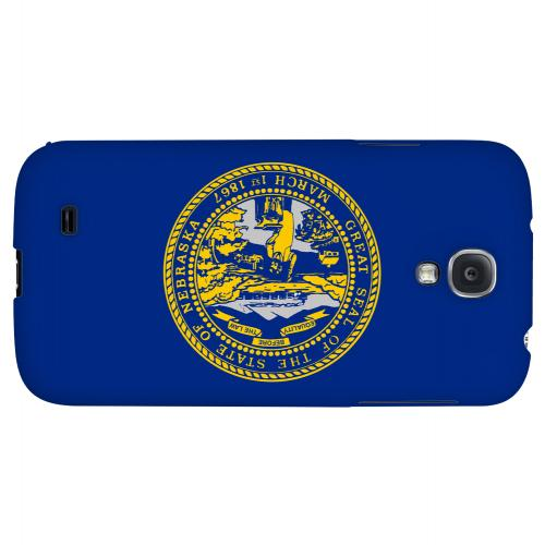 Nebraska - Geeks Designer Line Flag Series Hard Back Case for Samsung Galaxy S4
