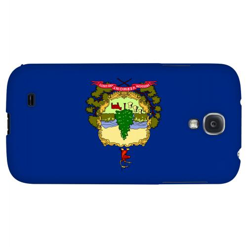 Vermont - Geeks Designer Line Flag Series Hard Back Case for Samsung Galaxy S4