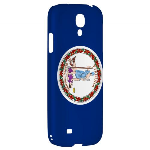 Virginia - Geeks Designer Line Flag Series Hard Back Case for Samsung Galaxy S4
