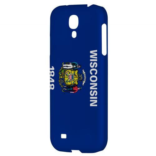 Wisconsin - Geeks Designer Line Flag Series Hard Back Case for Samsung Galaxy S4