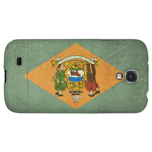 Grunge Delaware - Geeks Designer Line Flag Series Hard Case for Samsung Galaxy S4