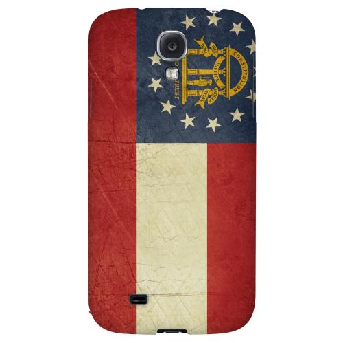 Grunge Georgia - Geeks Designer Line Flag Series Hard Case for Samsung Galaxy S4