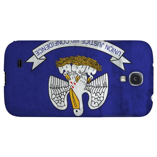 Grunge Louisiana - Geeks Designer Line Flag Series Hard Case for Samsung Galaxy S4