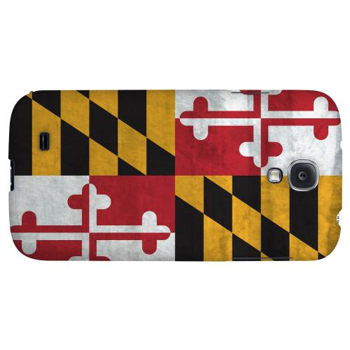 Grunge Maryland - Geeks Designer Line Flag Series Hard Case for Samsung Galaxy S4
