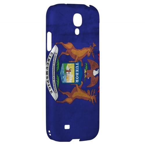 Grunge Michigan - Geeks Designer Line Flag Series Hard Case for Samsung Galaxy S4
