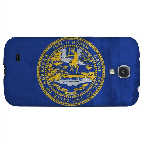 Grunge Nebraska - Geeks Designer Line Flag Series Hard Case for Samsung Galaxy S4