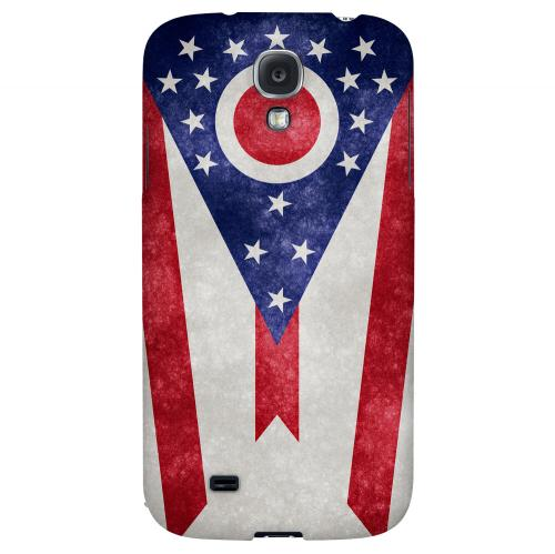 Grunge Ohio - Geeks Designer Line Flag Series Hard Case for Samsung Galaxy S4