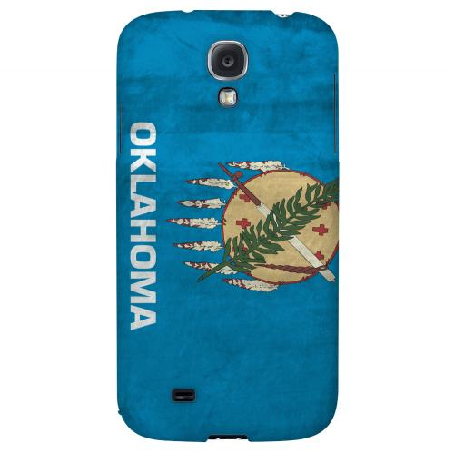 Grunge Oklahoma - Geeks Designer Line Flag Series Hard Case for Samsung Galaxy S4