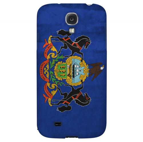 Grunge Pennsylvania - Geeks Designer Line Flag Series Hard Case for Samsung Galaxy S4