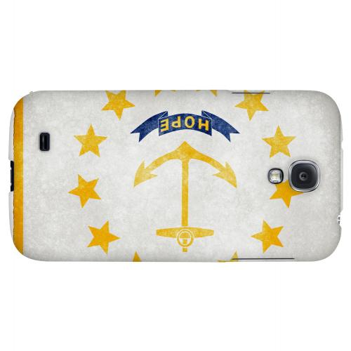 Grunge Rhode Island - Geeks Designer Line Flag Series Hard Case for Samsung Galaxy S4