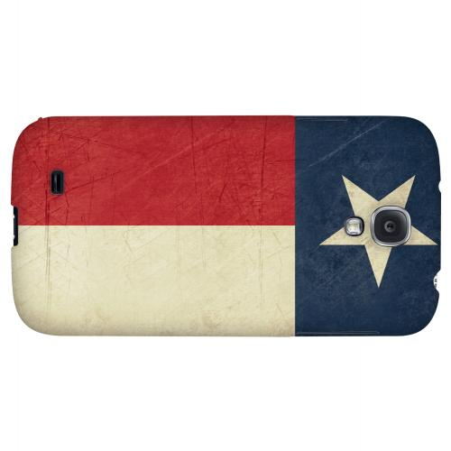 Grunge Texas - Geeks Designer Line Flag Series Hard Case for Samsung Galaxy S4