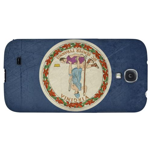Grunge Virginia - Geeks Designer Line Flag Series Hard Case for Samsung Galaxy S4