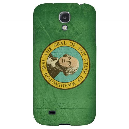 Grunge Washington - Geeks Designer Line Flag Series Hard Case for Samsung Galaxy S4