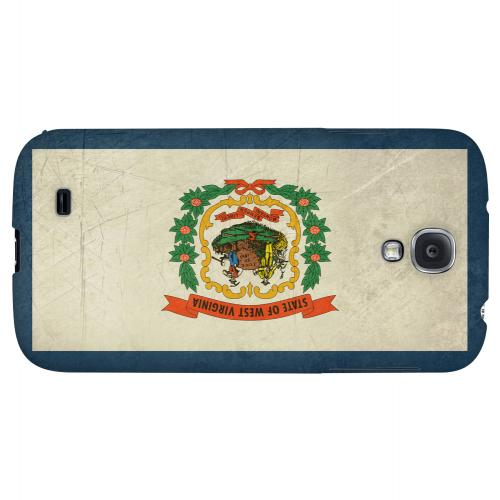 Grunge West Virginia - Geeks Designer Line Flag Series Hard Case for Samsung Galaxy S4