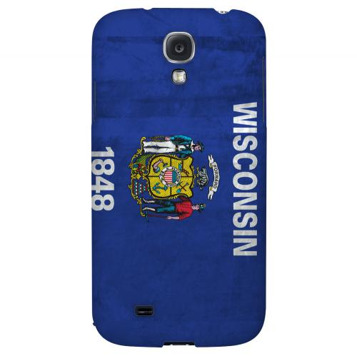 Grunge Wisconsin - Geeks Designer Line Flag Series Hard Case for Samsung Galaxy S4