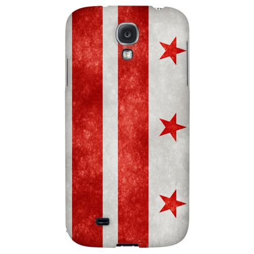 Grunge Washington, D.C. - Geeks Designer Line Flag Series Hard Case for Samsung Galaxy S4