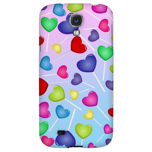 Assorted Heart Lollipops - Geeks Designer Line Candy Series Hard Back Case for Samsung Galaxy S4
