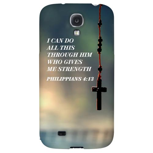 Philippians 4:13 - Geeks Designer Line Bible Series Hard Back Case for Samsung Galaxy S4