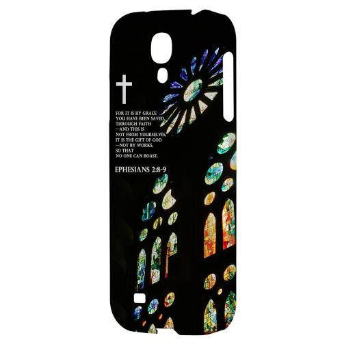 Ephesian 2:8-9 - Geeks Designer Line Bible Series Hard Back Case for Samsung Galaxy S4
