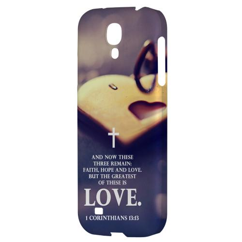 Corinthians 13:13 - Geeks Designer Line Bible Series Hard Back Case for Samsung Galaxy S4