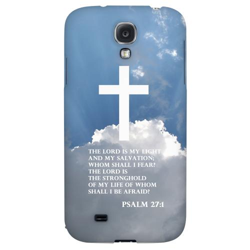 Psalm 27:1 - Geeks Designer Line Bible Series Hard Back Case for Samsung Galaxy S4