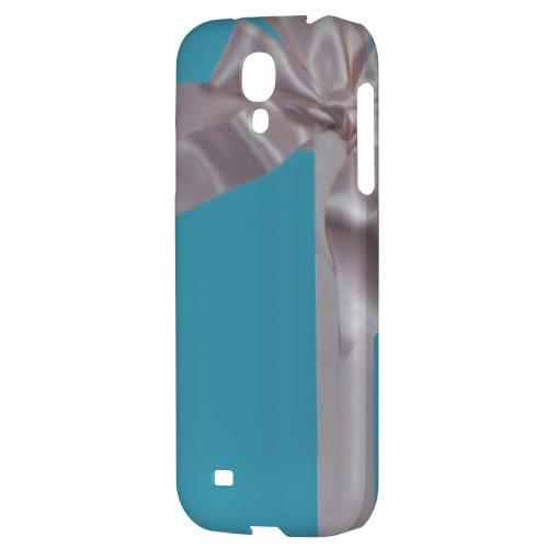 Turquoise Gift w/ White Satin Bow - Geeks Designer Line Hard Back Case for Samsung Galaxy S4