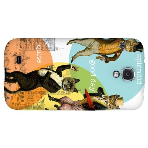 Dandy Kitties - Geeks Designer Line Americana Nostalgia Series Hard Back Case for Samsung Galaxy S4