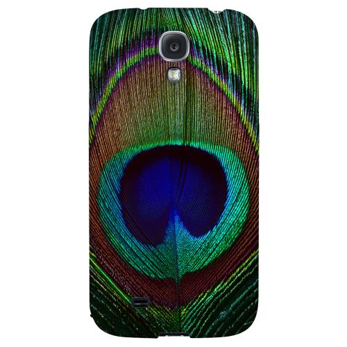 Colorful Peacock Feather - Geeks Designer Line Animal Print Series Hard Back Case for Samsung Galaxy S4