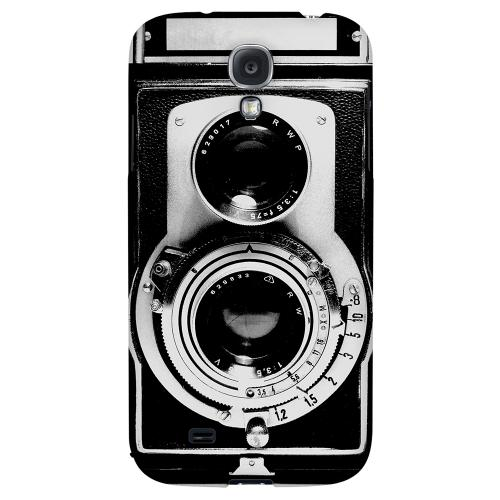 Black Film Noir Camera - Geeks Designer Line Retro Series Hard Back Case for Samsung Galaxy S4