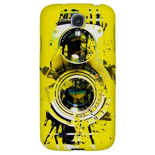 Chaotic Yellow Camera - Geeks Designer Line Retro Series Hard Back Case for Samsung Galaxy S4