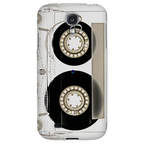 Clear Cassette - Geeks Designer Line Retro Series Hard Back Case for Samsung Galaxy S4
