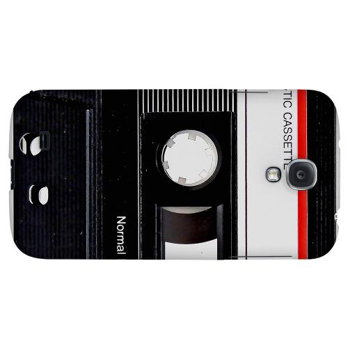 Black Cassette Close Up - Geeks Designer Line Retro Series Hard Back Case for Samsung Galaxy S4
