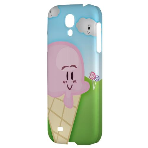 Cute Pink Ice Cream Cone - Geeks Designer Line Candy Series Hard Back Case for Samsung Galaxy S4