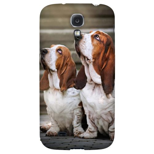 Bassett Hounds - Geeks Designer Line Puppy Series Hard Back Case for Samsung Galaxy S4