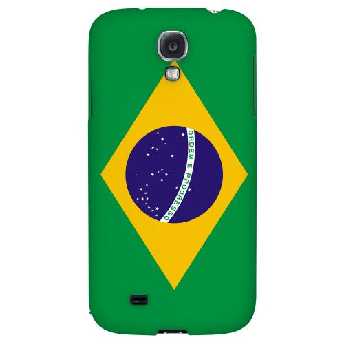 Brazil - Geeks Designer Line Flag Series Hard Back Case for Samsung Galaxy S4