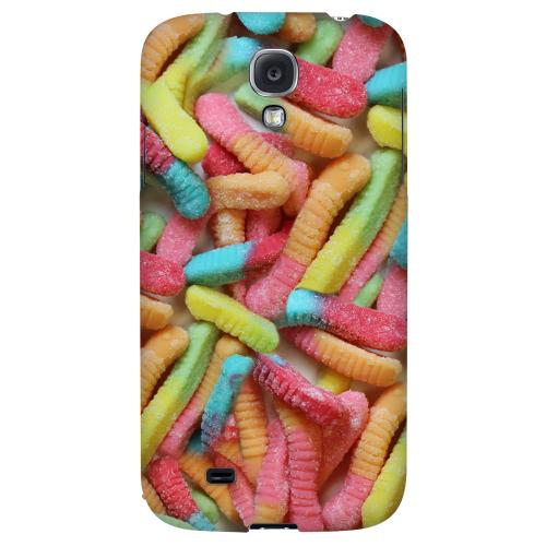 Multi-Colored Gummy Worms - Geeks Designer Line Candy Series Hard Back Case for Samsung Galaxy S4