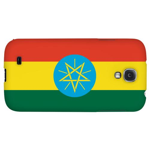 Ethiopia - Geeks Designer Line Flag Series Hard Back Case for Samsung Galaxy S4