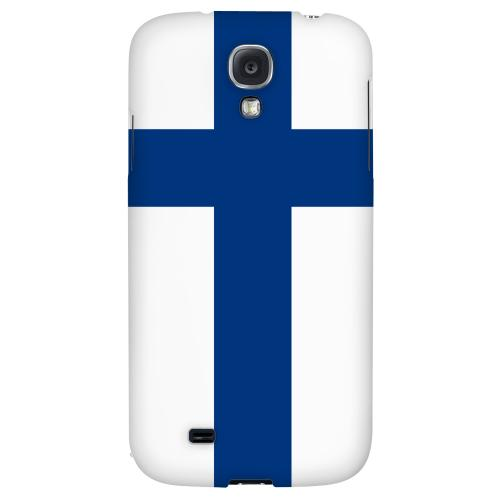 Finland - Geeks Designer Line Flag Series Hard Back Case for Samsung Galaxy S4