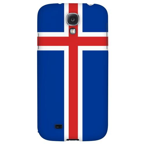 Iceland - Geeks Designer Line Flag Series Hard Back Case for Samsung Galaxy S4