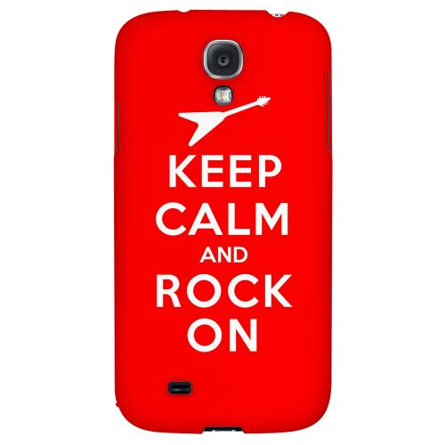 Red Rock On - Geeks Designer Line Keep Calm Series Hard Back Case for Samsung Galaxy S4