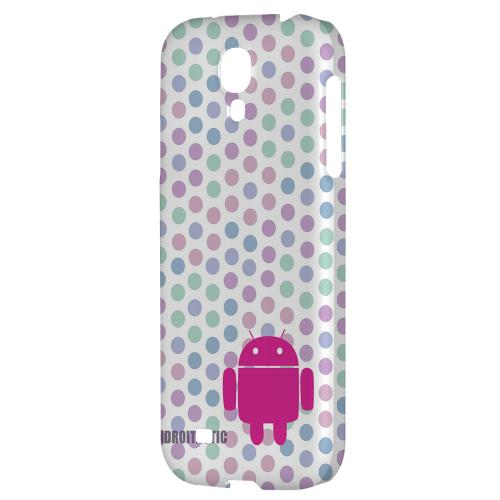 Pink Robot on Pastel Polka Dots - Geeks Designer Line Androitastic Series Hard Back Case for Samsung Galaxy S4
