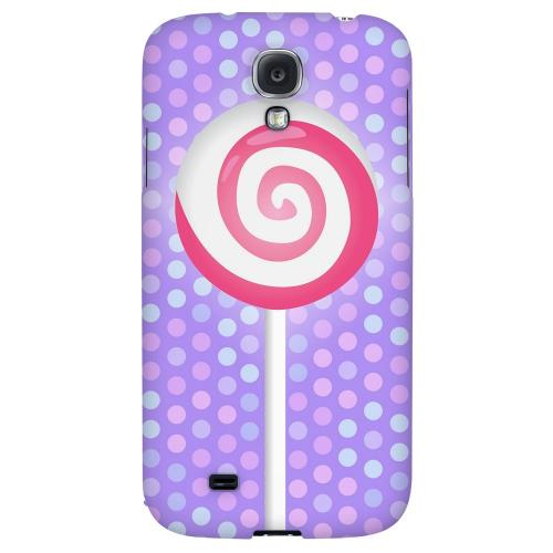 Pink Lollipop - Geeks Designer Line Candy Series Hard Back Case for Samsung Galaxy S4