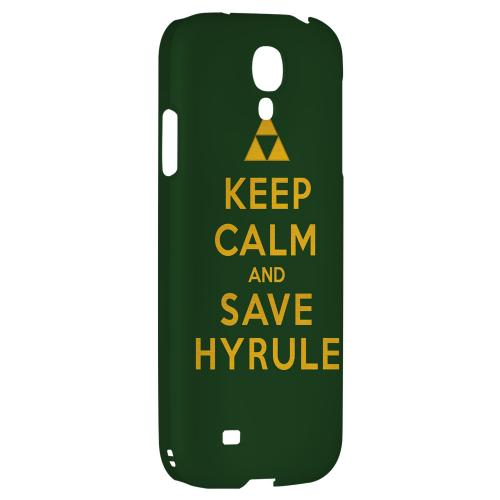 Green Save Hyrule - Geeks Designer Line Keep Calm Series Hard Back Case for Samsung Galaxy S4
