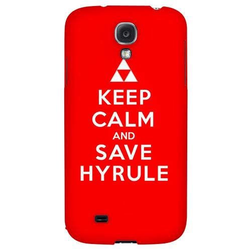 Red Save Hyrule - Geeks Designer Line Keep Calm Series Hard Back Case for Samsung Galaxy S4