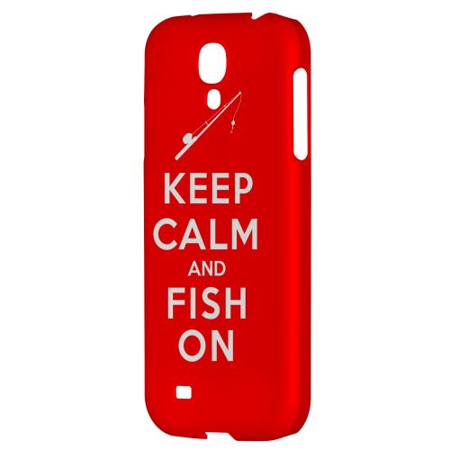 Red Fish On - Geeks Designer Line Keep Calm Series Hard Back Case for Samsung Galaxy S4
