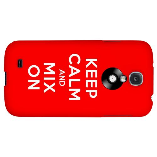 Red Mix On - Geeks Designer Line Keep Calm Series Hard Back Case for Samsung Galaxy S4